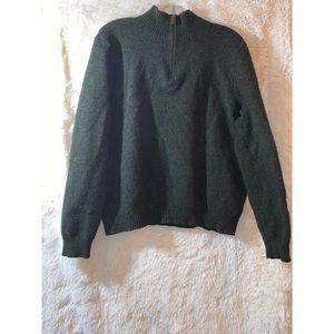 Polo Men's Green Pullover 1/2 Zip Wool Sweater